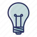 bulb, education, idea, lamp, school icon