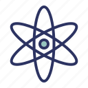 atom, education, experiment, school, science icon