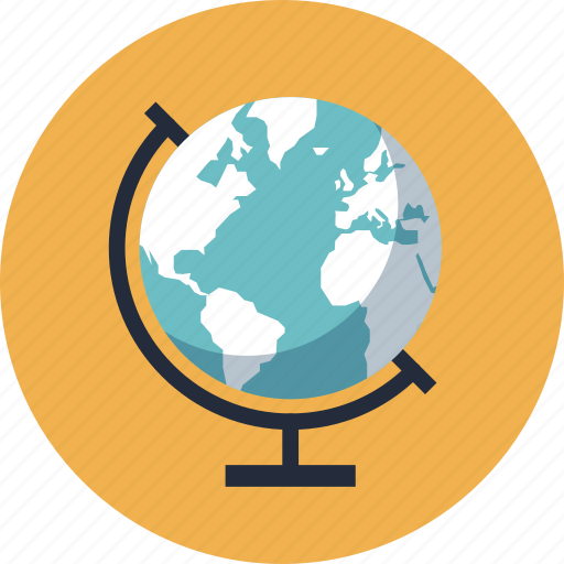 college, education, equipment, geography, globe, item, learn, learning, map, object, school, study, world icon