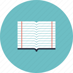 book, college, education, equipment, item, learning, notebook, object, school, text, textbook, workbook, writing icon