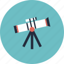 astronomy, college, education, equipment, item, learn, learning, object, observation, research, school, stars, telescope icon