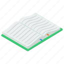 bookmark, knowledge, novel, open book, textbook icon