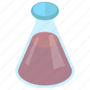 erlenmeyer flask, flask, chemistry, lab equipment, lab apparatus, chemical flask icon