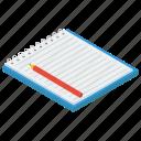 drafting pad, notebook, notepad, sketching pad, textbook, writing pad icon