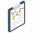 organic chemistry, organic science, science chart, science graph, science report icon