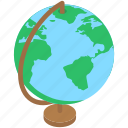 geographic equipment, geography globe, office globe, table globe, world map icon