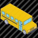 school bus, school conveyance, school transport, van, vehicle icon
