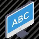abc alphabets, abc education, basic education, basic learning, kindergarten icon