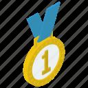1st position, award, award medal, medal, military medal, pendant, reward icon
