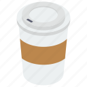 coffee, coffee cup, disposable cup, paper cup, takeaway coffee icon