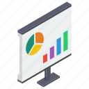 analytical report, data analytics, graphic report, graphical presentation, infographic, statistics icon