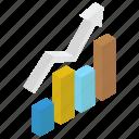 bar graph, data analytics, growth chart, infographic, statistics icon