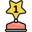 achievement, award, medal, prize, winner, star, trophy