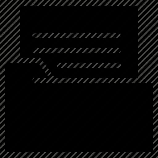 document, education, file, folder icon