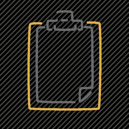 clipboard, read, report, task icon
