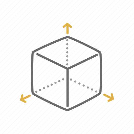 3d, abstract, cube, geometry, shape icon