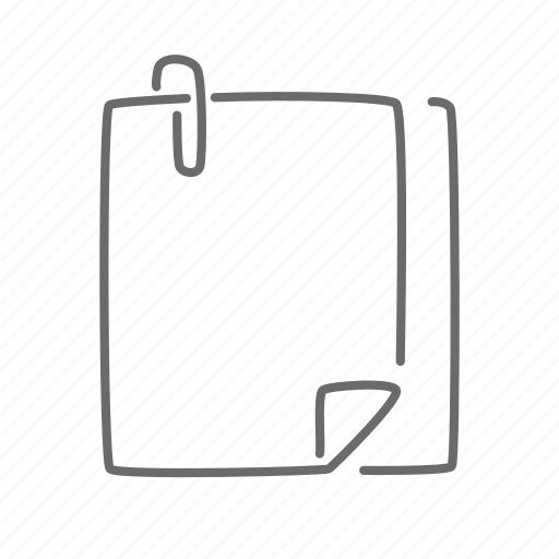 attachment, clip, pages, papers icon