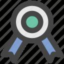achievement, award medal, medal, prize, reward ribbon, ribbon badge icon