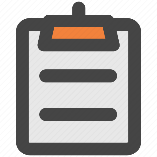 clipboard, list, memo, notation, note, record icon