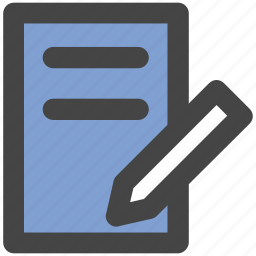 notepad, paper, pen, sheet, signature, write, writing icon