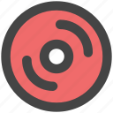 cd, cd drive, compact disk, disk, dvd, record icon