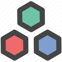 cells, geometric pattern, hexagonal pattern, hexagons, honeycomb icon