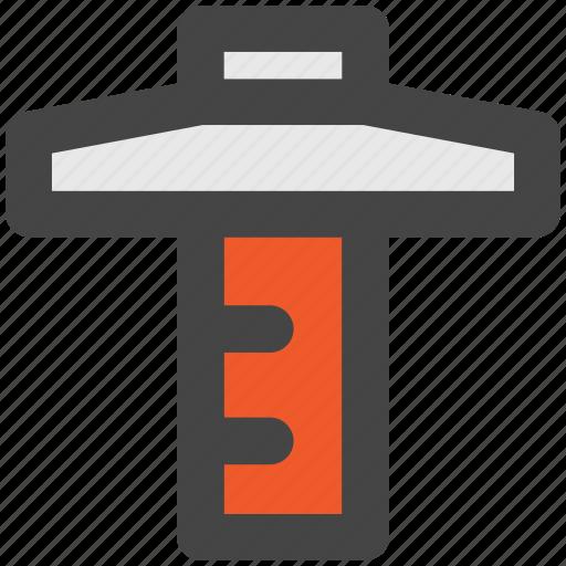 architecture, carpenter tool, measure tool, ruler, set square, t square icon
