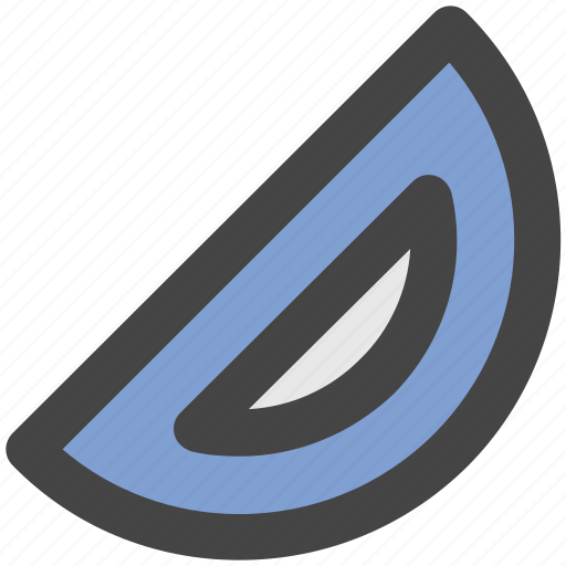 degree tool, drafting, geometrical tool, measuring tool, protractor icon
