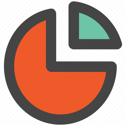 analytics, chart, infographics, pie chart, pie graph, statistic, stats icon