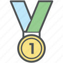award, first position, honor, medal, prize, reward, victory