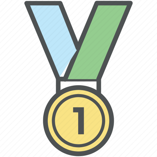 award, first position, honor, medal, prize, reward, victory icon