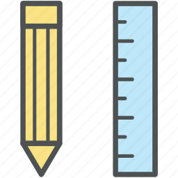 drawing, geometrical tools, geometry, maths, measuring tools, pencil, ruler icon