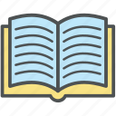 book, encyclopedia, guide, literature, schoolbook, textbook, wikipedia icon