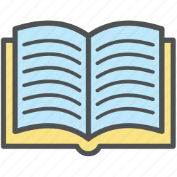book, encyclopedia, guide, literature, schoolbook, textbook, wikipedia icon