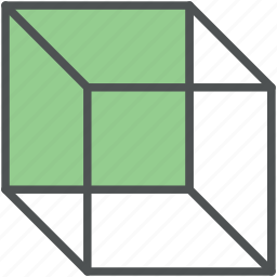 box, cubic box, empty cube, shape, square, square shape icon