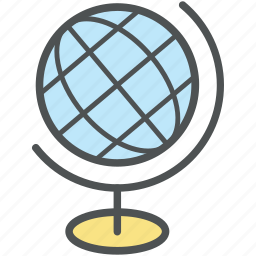 cartography, earth, globe, map, planet, school globe, table globe, world icon
