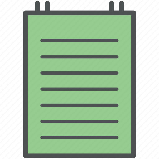 documents, jotter, notepad, notes, stenopad, writing pad icon