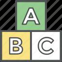 abc, alphabet, alphabet blocks, kids, kindergarten, preschool, toy blocks