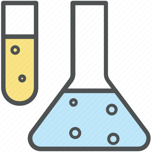 beaker, chemical, glass tubes, laboratory equipment, research, science, test tubes icon