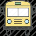 autobus, bus, coach, motorbus, school bus, transport, vehicle