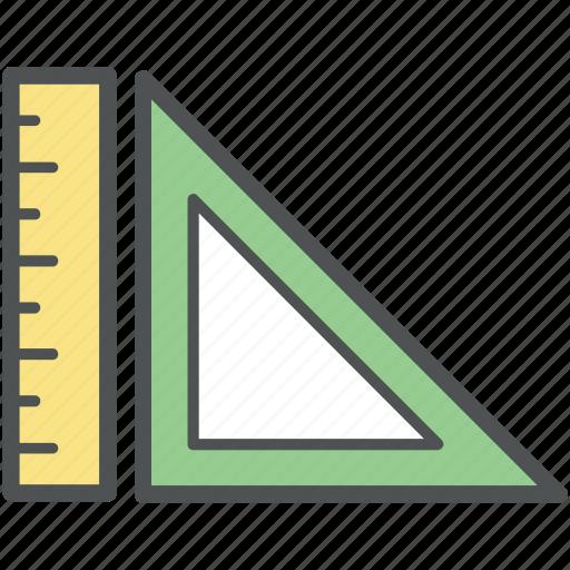 degree square, drafting, geometry, maths, measuring tools, ruler, sketching icon