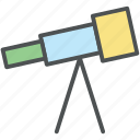 astronomy, lens, planetarium, search, spyglass, telescope, vision icon