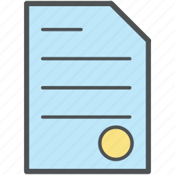 achievement, certificate, certification, deed, degree, diploma, document icon