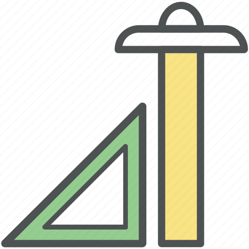 architecture, drafting, drafting triangle, ruler, t-square, tools icon