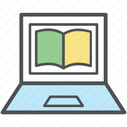 distant learning, ebook, education concept, elearning, information technology, modern education, online study icon