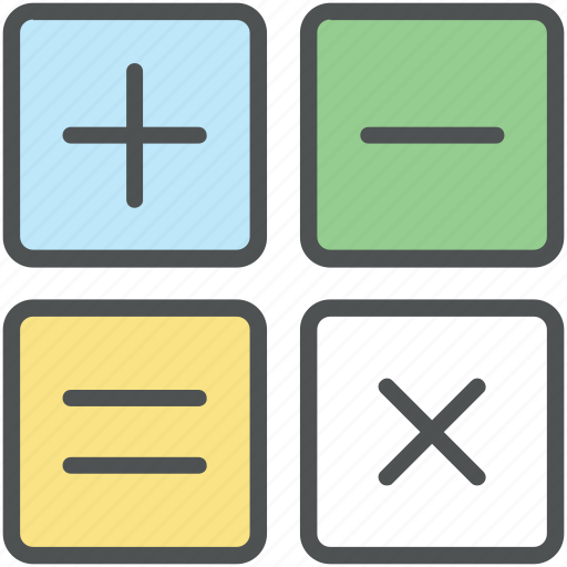 accounting, calculator, calculator keys, finance, mathematical signs, maths icon