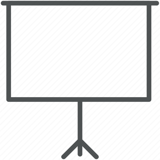 canvas, conference, display, empty, presentation, projection, projection screen icon