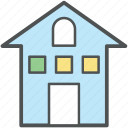 building, building exterior, building structure, estate, home, house, real icon