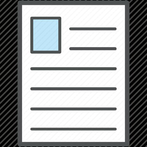 applicant, biodata, career, curriculum vitae, cv, qualifications, resume icon