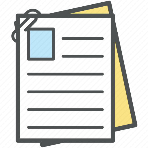 attachment, data, documents, duplicate file, notes, record, stationery icon